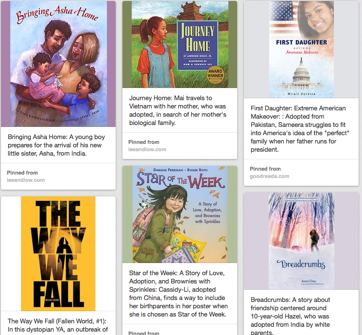 Pinterest: Books About Transracial Adoption