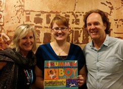 Stacy Whitman with author Mark Greenwood and illustrator Frané Lessac